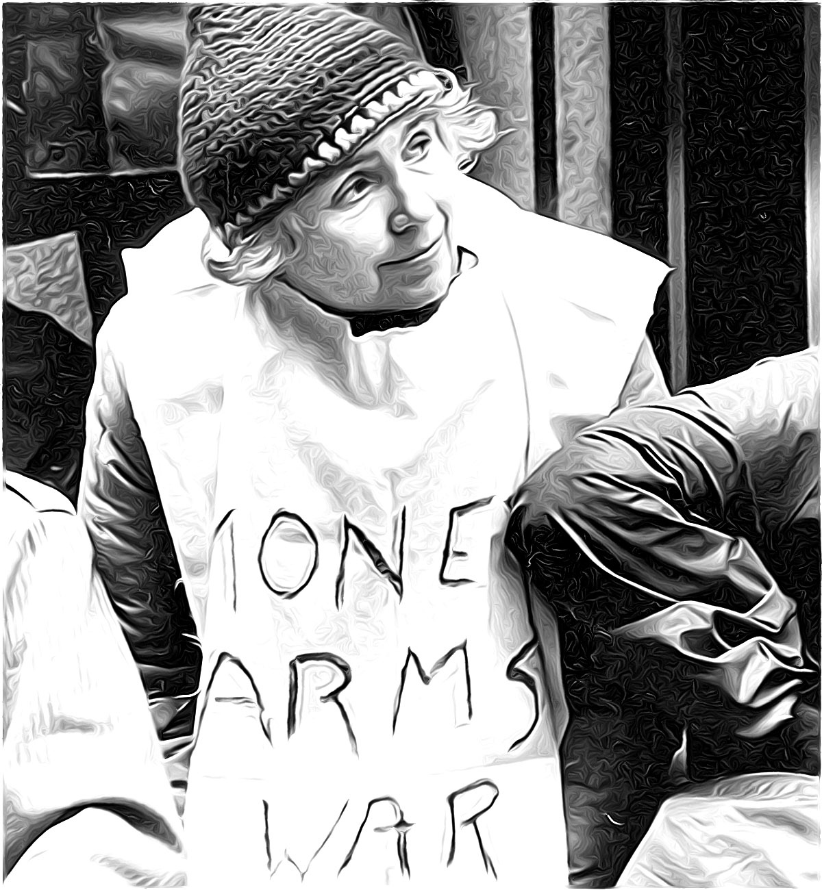 Grace Paley protesting the war economy