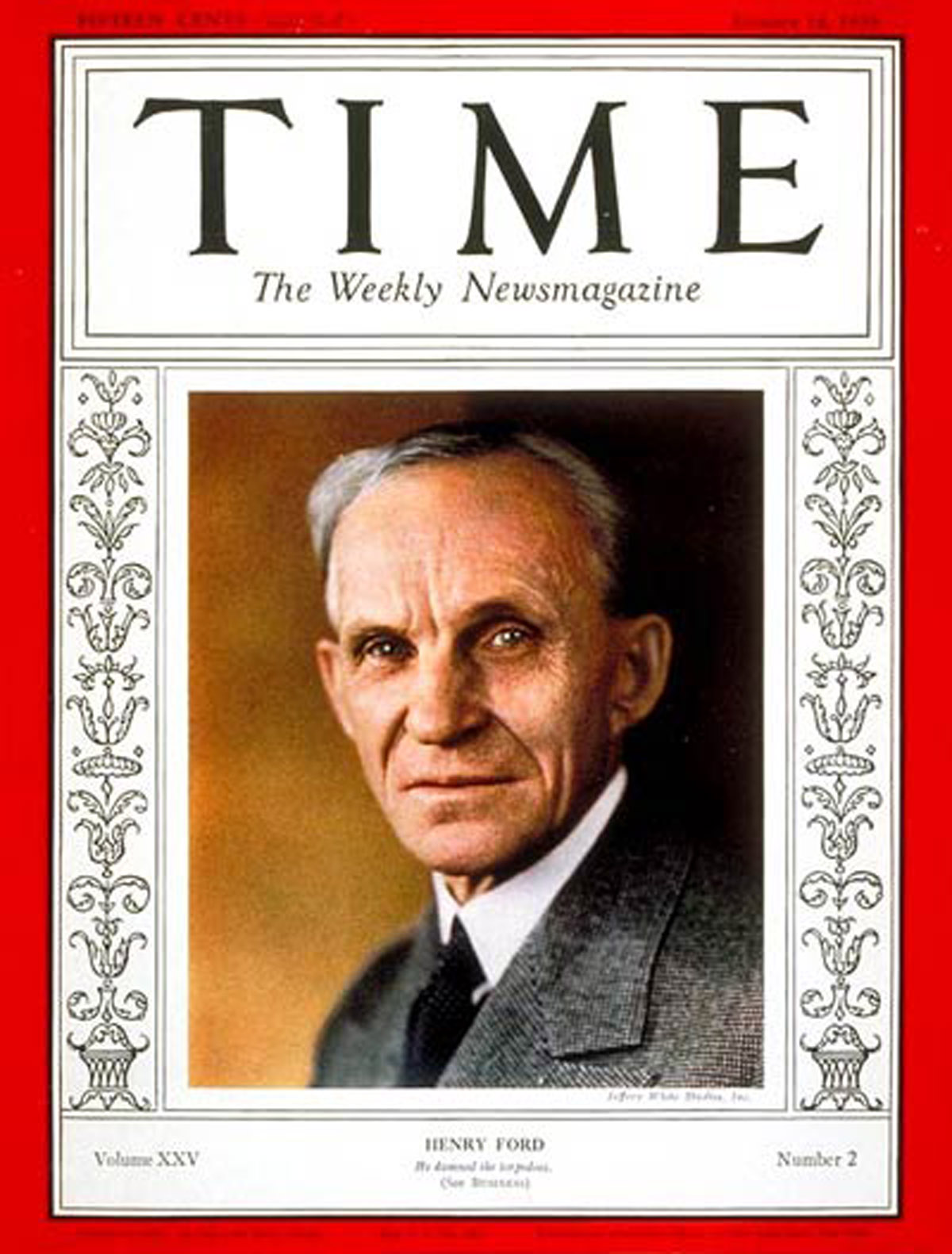 Henry Ford on the cover of Time Magazine in 1935
