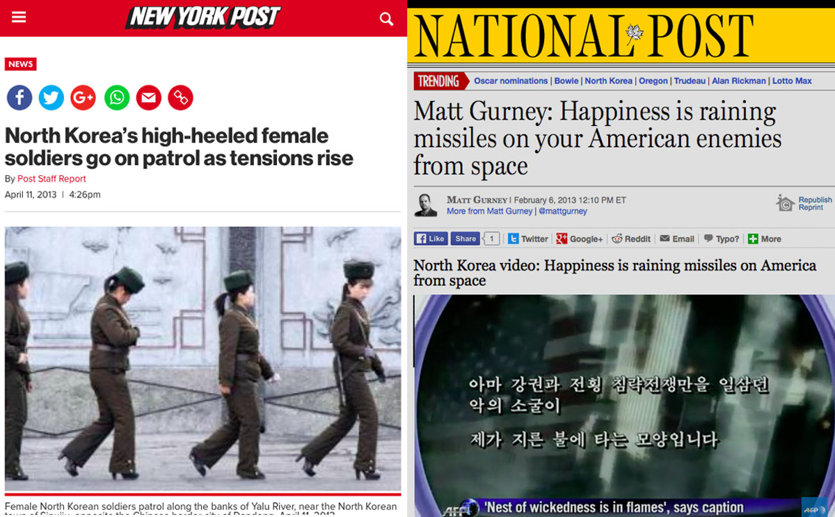 Ridiculous headlines about North Korea
