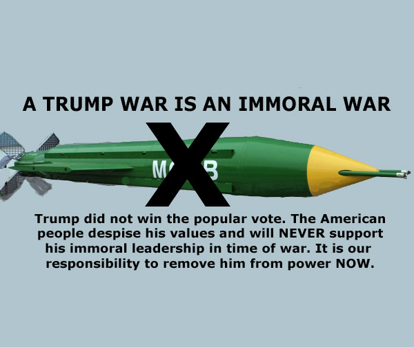 A Trump War is an Immoral War