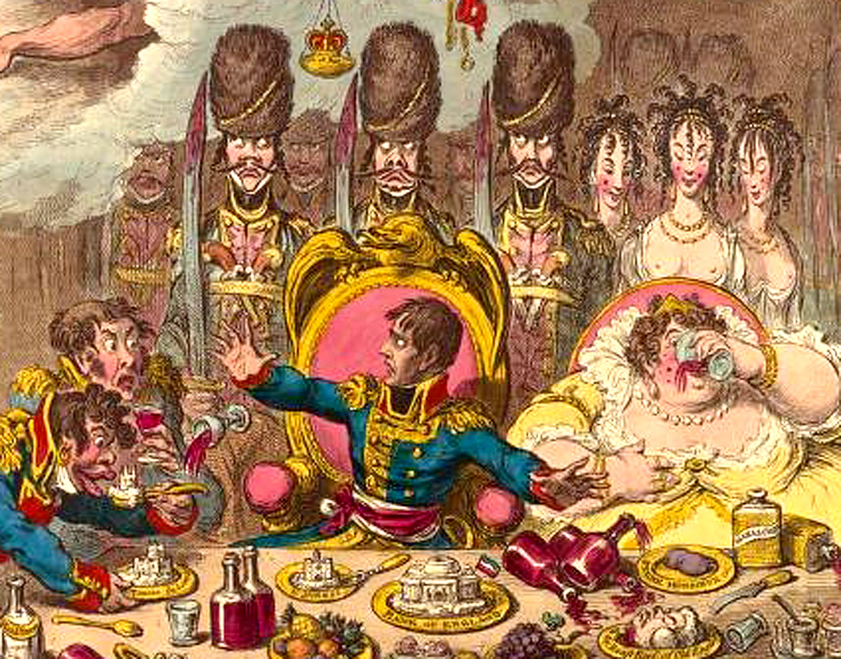 Napoleon Bonaparte at a feast